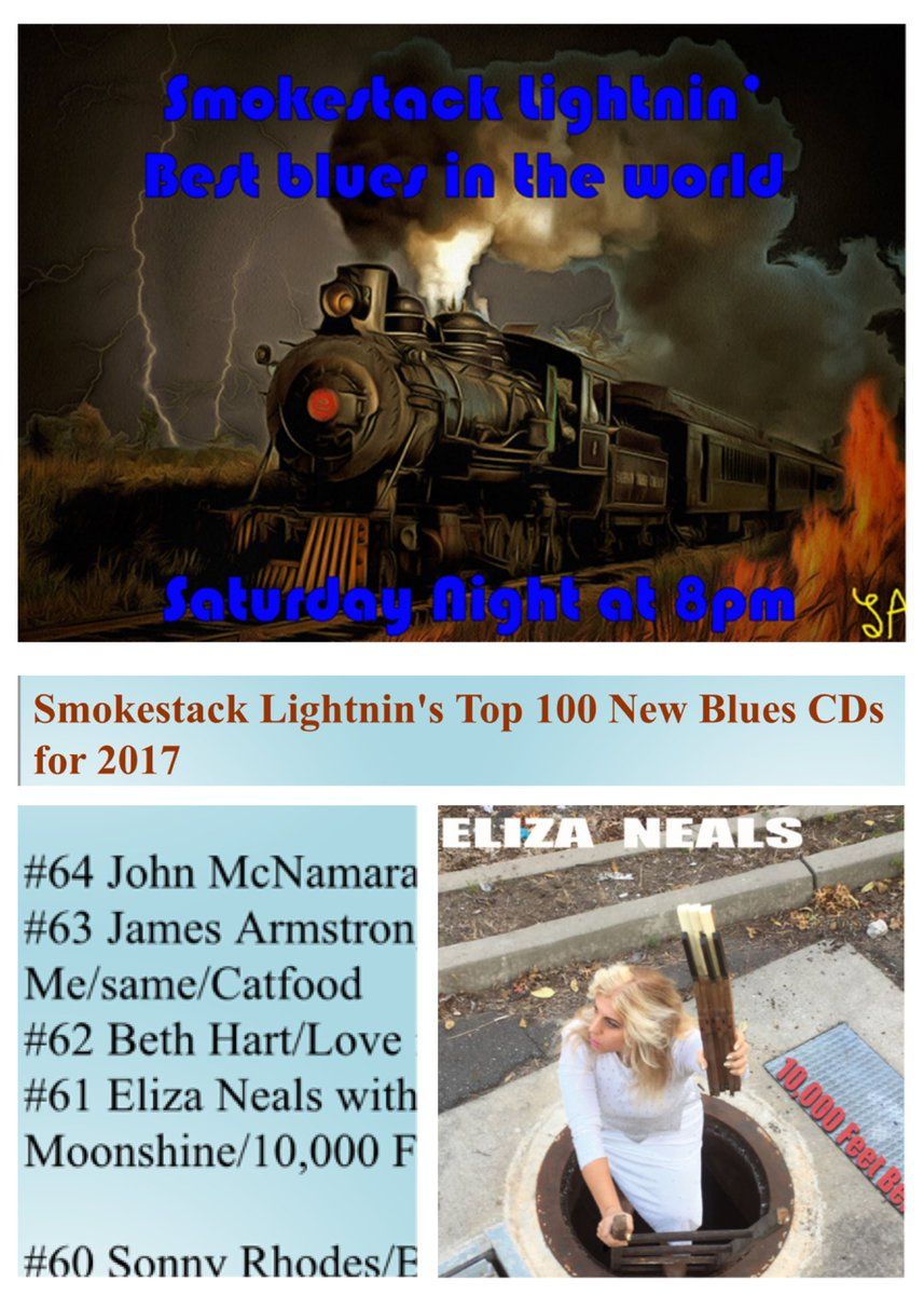 Eliza Neals ⋆ Smokestack Lightnin's Top 100 New Blues CDs for 2018